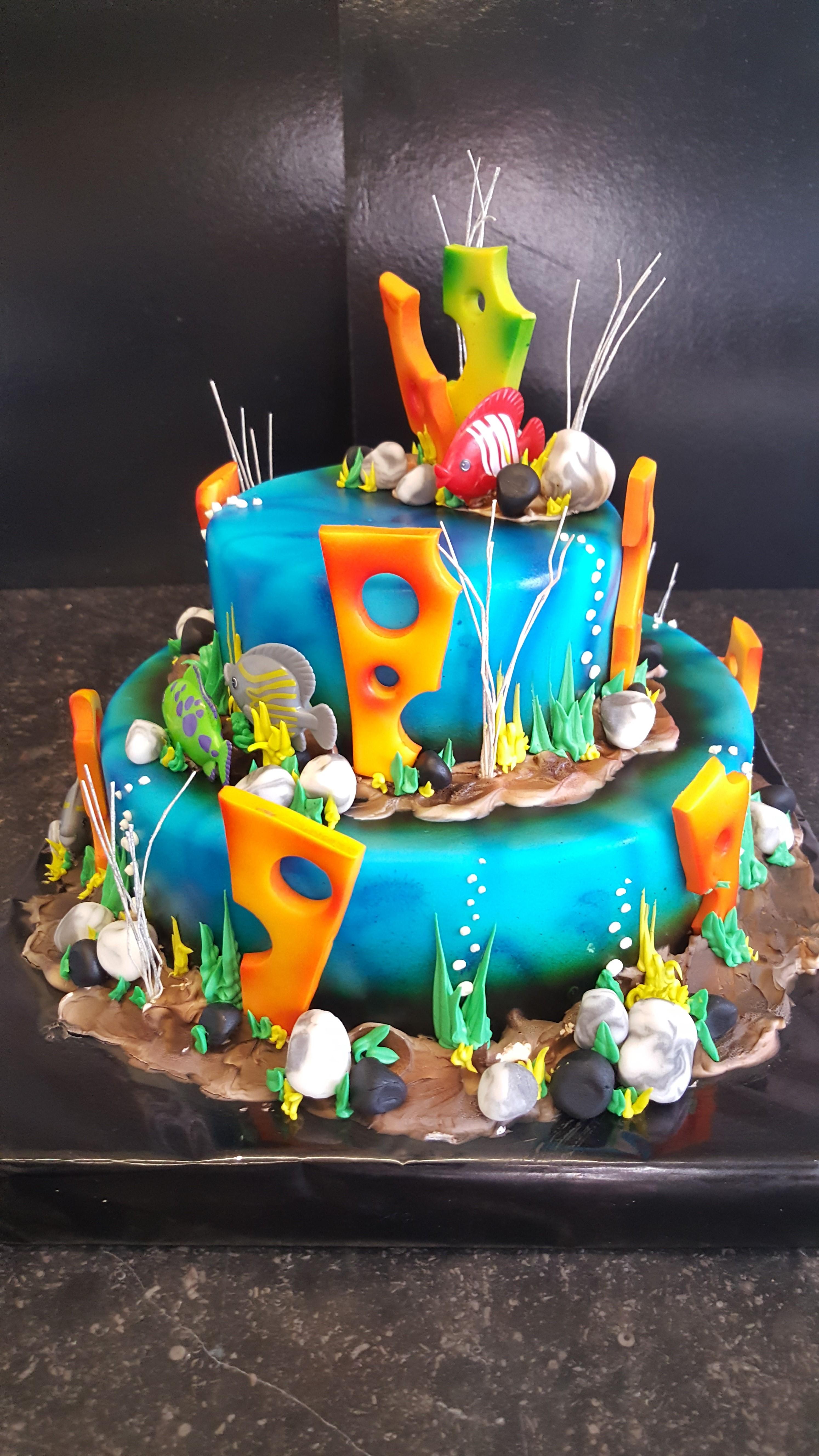 photo gâteau américain aquatis